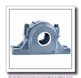 skf SAF 1609 x 1.1/2 T SAF and SAW pillow blocks with bearings on an adapter sleeve