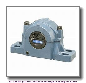 skf SAF 22611 x 1.7/8 T SAF and SAW pillow blocks with bearings on an adapter sleeve