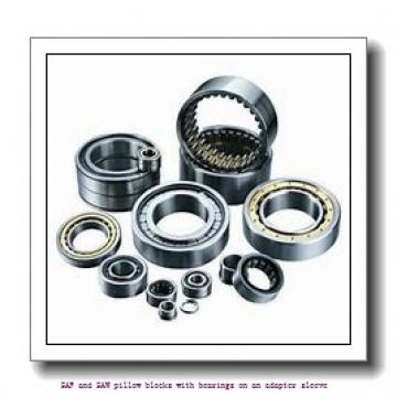 skf SAF 22538 x 6.13/16 SAF and SAW pillow blocks with bearings on an adapter sleeve
