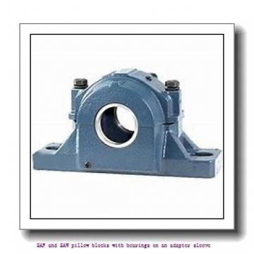 skf SSAFS 23038 KAT x 6.7/8 SAF and SAW pillow blocks with bearings on an adapter sleeve