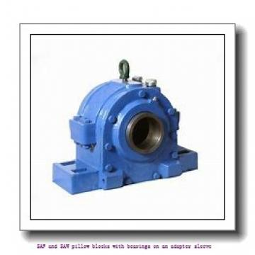 skf SAF 1515 x 2.3/8 T SAF and SAW pillow blocks with bearings on an adapter sleeve
