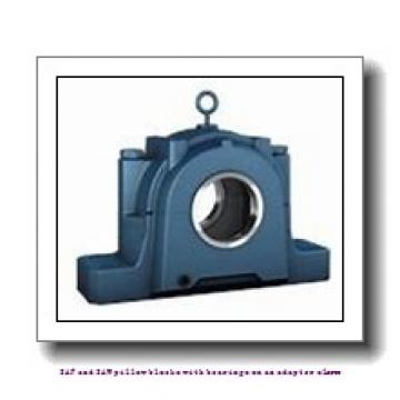 skf SAW 23532 x 5.1/2 SAF and SAW pillow blocks with bearings on an adapter sleeve