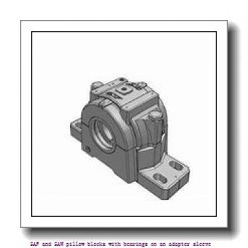skf SAF 22532 x 5.3/8 SAF and SAW pillow blocks with bearings on an adapter sleeve