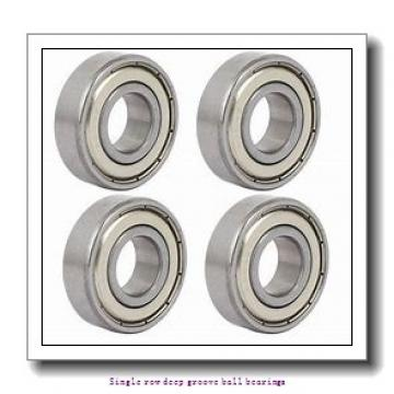 80 mm x 125 mm x 22 mm  NTN 6016ZZ/2AS Single row deep groove ball bearings